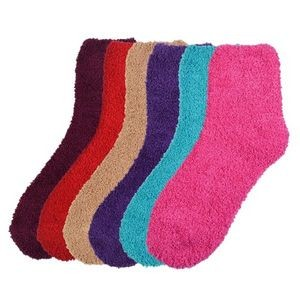Bright Colors Adult Cozy Soft Crew Socks (9-11) (Case of 60)